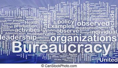 burocracia, concepto, plano de fondo