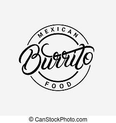 Burrito hand written lettering logo