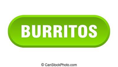 burritos button. burritos rounded green sign. burritos