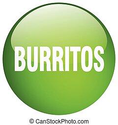 burritos green round gel isolated push button