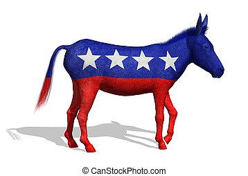 burro, democrata