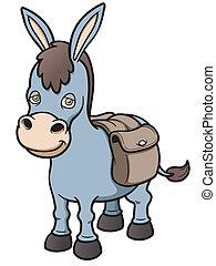 Burro - Vector illustration of Cartoon burro
