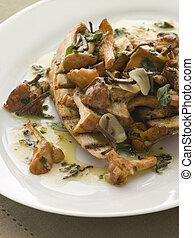 burro, sauteed, baguette, carbonizzare, selvatico, aglio, ...