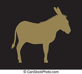 burro, silueta