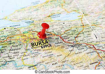 Bursa ,Turkey  map