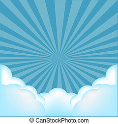 Burst Background With Clouds