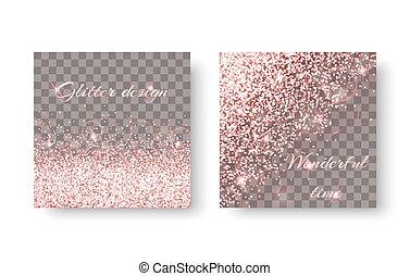 Burst pink background - Glitter sparkle background with...
