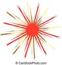 Burst red star symbol logo