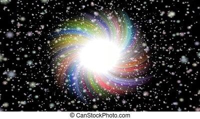 Burst star seamless loop video