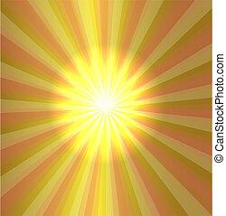 Burst stars light descending on