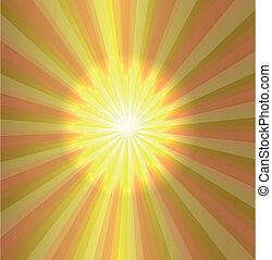 Burst stars light descending