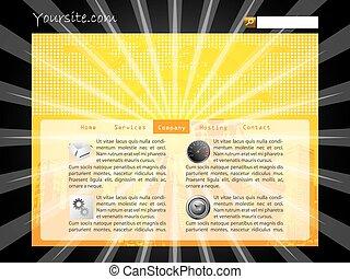 Burst web template design