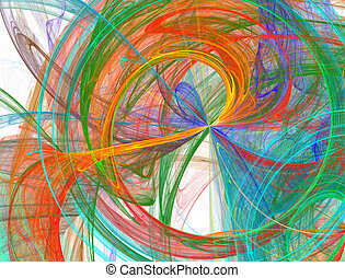 bursting abstract rainbow design