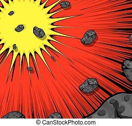 Bursting Asteroids Background