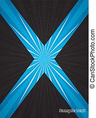 Bursting blue abstract brochure design
