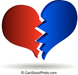 bursting heart vector,
