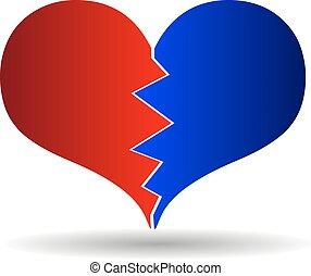 bursting heart vector,
