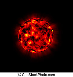 bursting planet