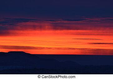Bursting skyes after sunset