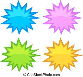 Bursting speech star bubbles set