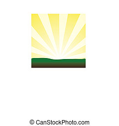 Bursting Yellow Sunrays