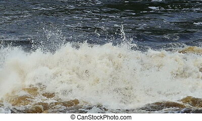 bursts and splashes of a seething water, slomo - bursts and...