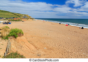 Beach at Burton Bradstock Dorset England UK