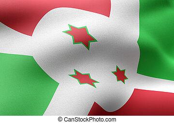 Burundi 3d flag