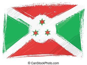 Burundi, bandera,  Grunge
