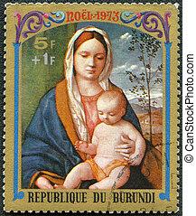 BURUNDI - CIRCA 1973: A stamp printed by Burundi shows ...
