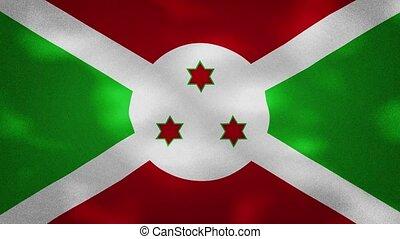 Burundi dense flag fabric wavers, perfect loop for background