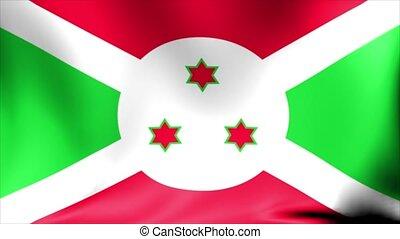 Burundi Flag. Background Seamless Looping Animation. 4K HD Video.