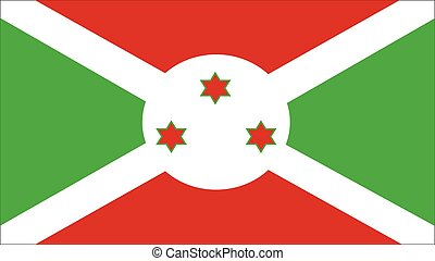 burundi Flag for Independence Day and infographic Vector illustration.