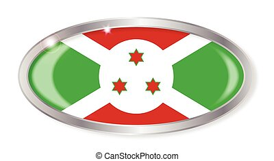 Burundi Flag Oval Button