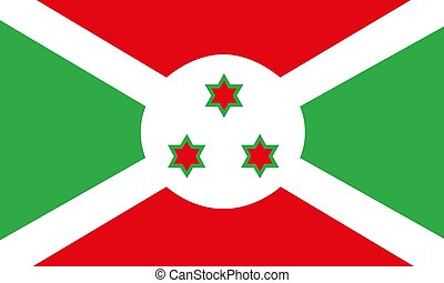 Burundi flag vector illustration EPS10
