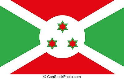 Burundi flag vector illustration EPS10