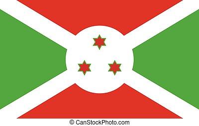 Burundi flag vector - Vector illustration Burundi flag icon...