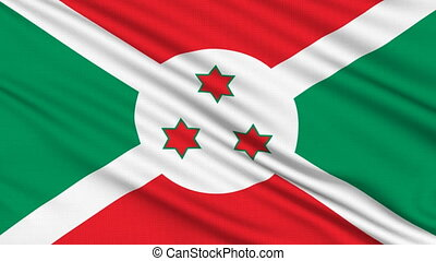 Burundi Flag, with real structure of a fabric