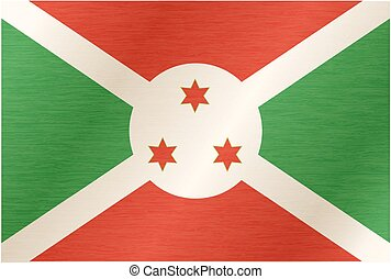 Burundi flag with title on the white background