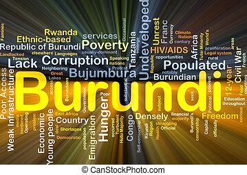 burundi, glowing, conceito, fundo