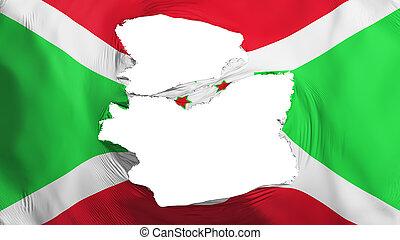 burundi markierungsfahne, zerfetzt
