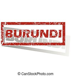 Burundi outlined stamp