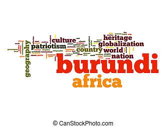 burundi, palabra, nube