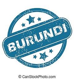BURUNDI round stamp