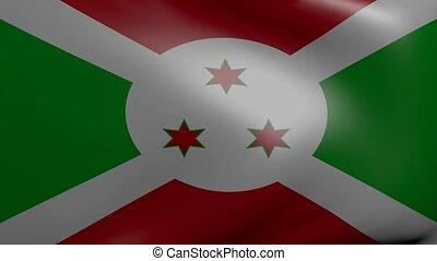 burundi strong wind flag