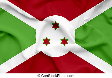 Burundi waving flag
