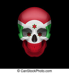 Burundian flag skull