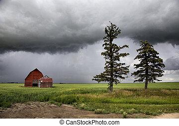 burza chmury, saskatchewan