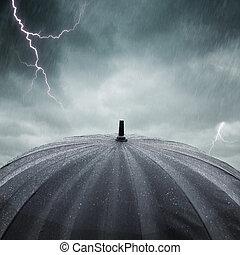 burza, deszcz