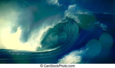 burza, huragan, 2, tło, tsunami, tajfun